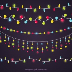 Colorful christmas light collection
