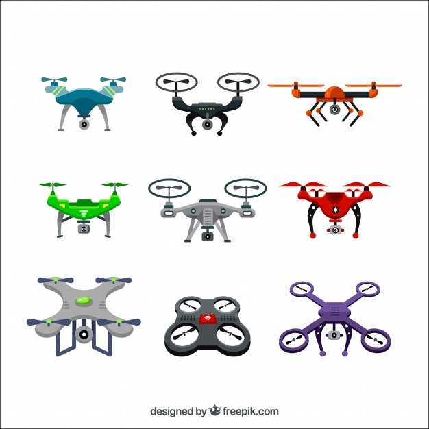Colorful drone collection