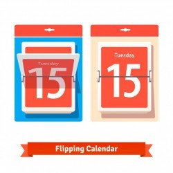 Colorful flipping calendar