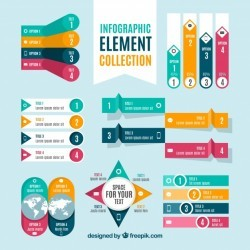 Colorful set of infographic elements
