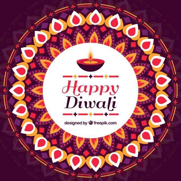 Decorative happy diwali decorative background