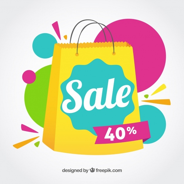 Discount bag abstract background