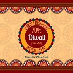 Diwali discount background