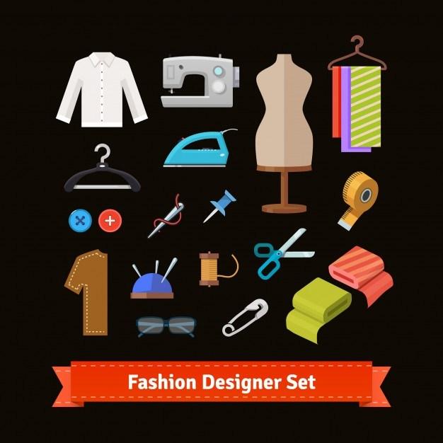 Fashion designer tools and materials