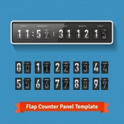 Flap time and day wall clock
