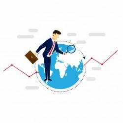 Global Research Businessman Strategy Illustration Concept