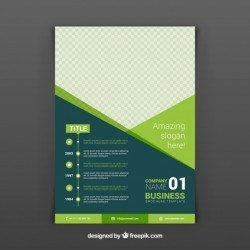 Green abstract business brochure