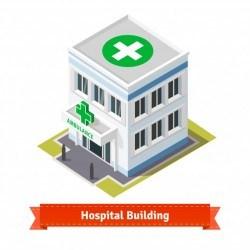 Hospital and ambulance building