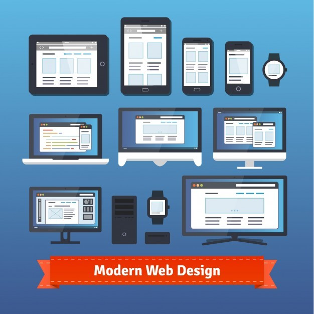 Modern responsive web design on all mobile devices