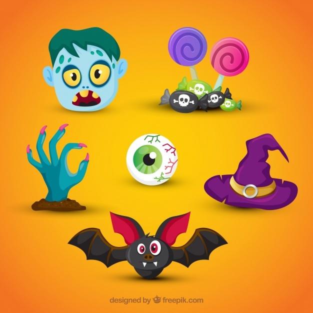 Original pack of fun halloween elements