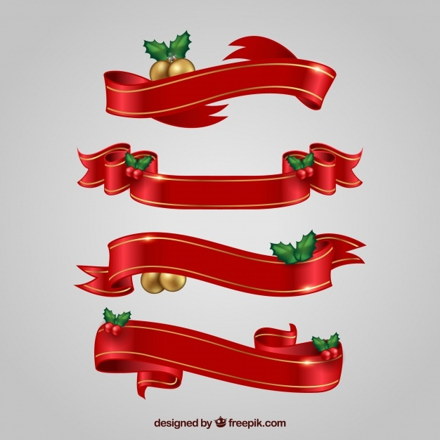 Pack of christmas decorative ribbons