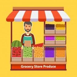 Produce shop keeper