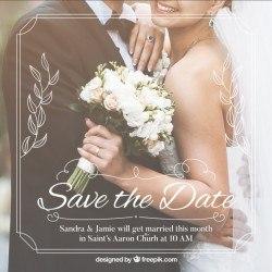 Romantic save the date invitation template