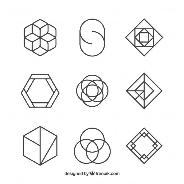 Set of logos of abstract shapes