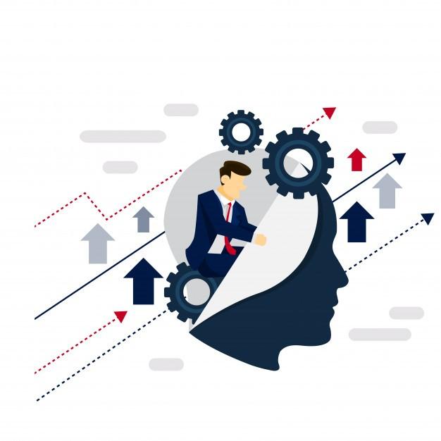 Smart System Businessman Strategy Illustration Concept