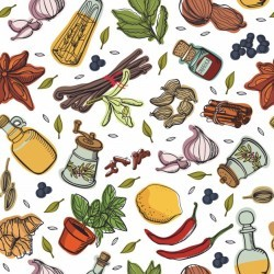Spices kitchen pattern