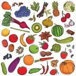 Spices&vegetables&fruits big set