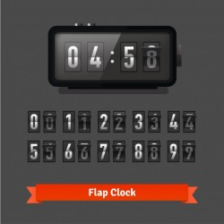Table flap clock and number counter template