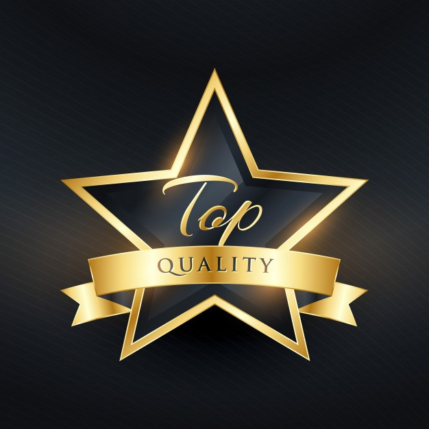 Top quality luxury label design with golden ribbon