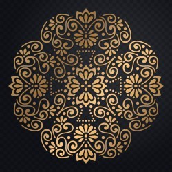 Vector luxury wedding invitation with mandala