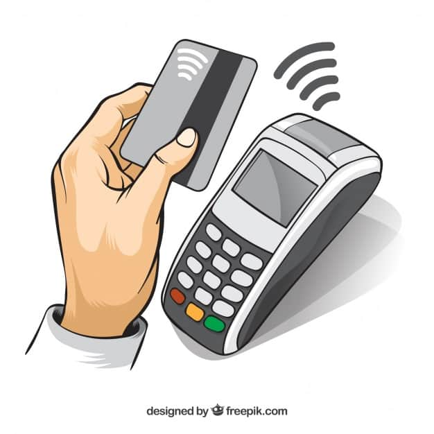 Contactless background design