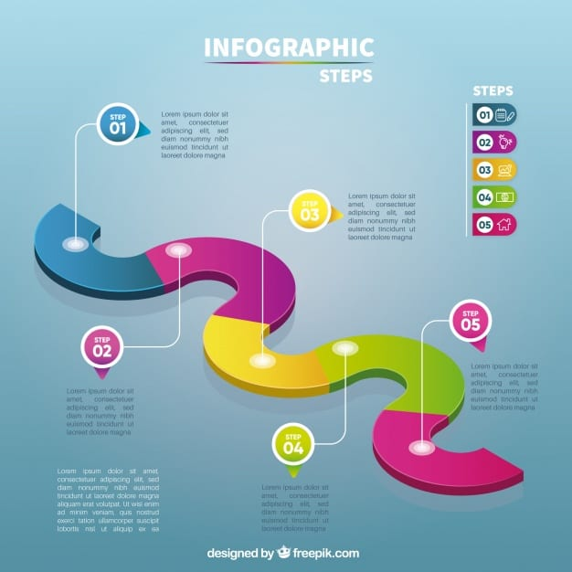 Creative infographic template with steps