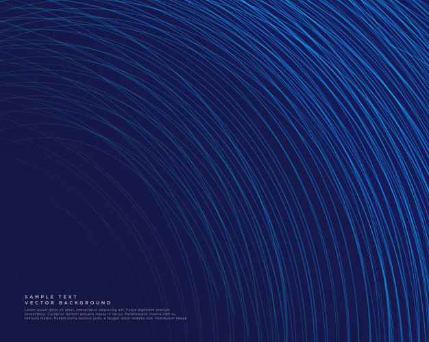 Dark background with blue curve lines vector