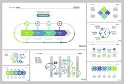 Eight Management Slide Templates Set