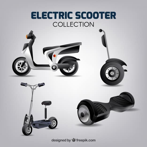 Electric scooters with realistic style