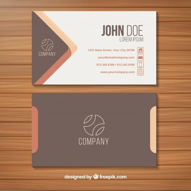 Elegant business card with original style