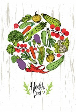 Healthy food design card