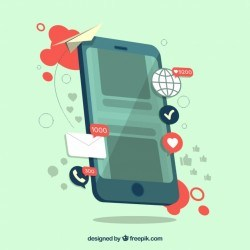 Influence marketing concept with smartphone