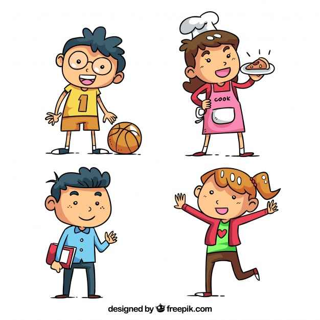 Kids character pack