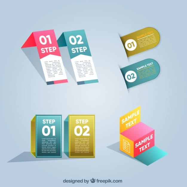 Modern collection of infographic elements