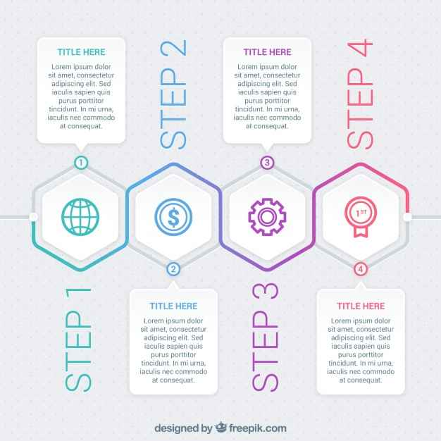 Modern infographic with different phases