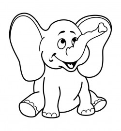 5 Year Olds Printable Kids Online Colouring High Quality Pictures – Elephant