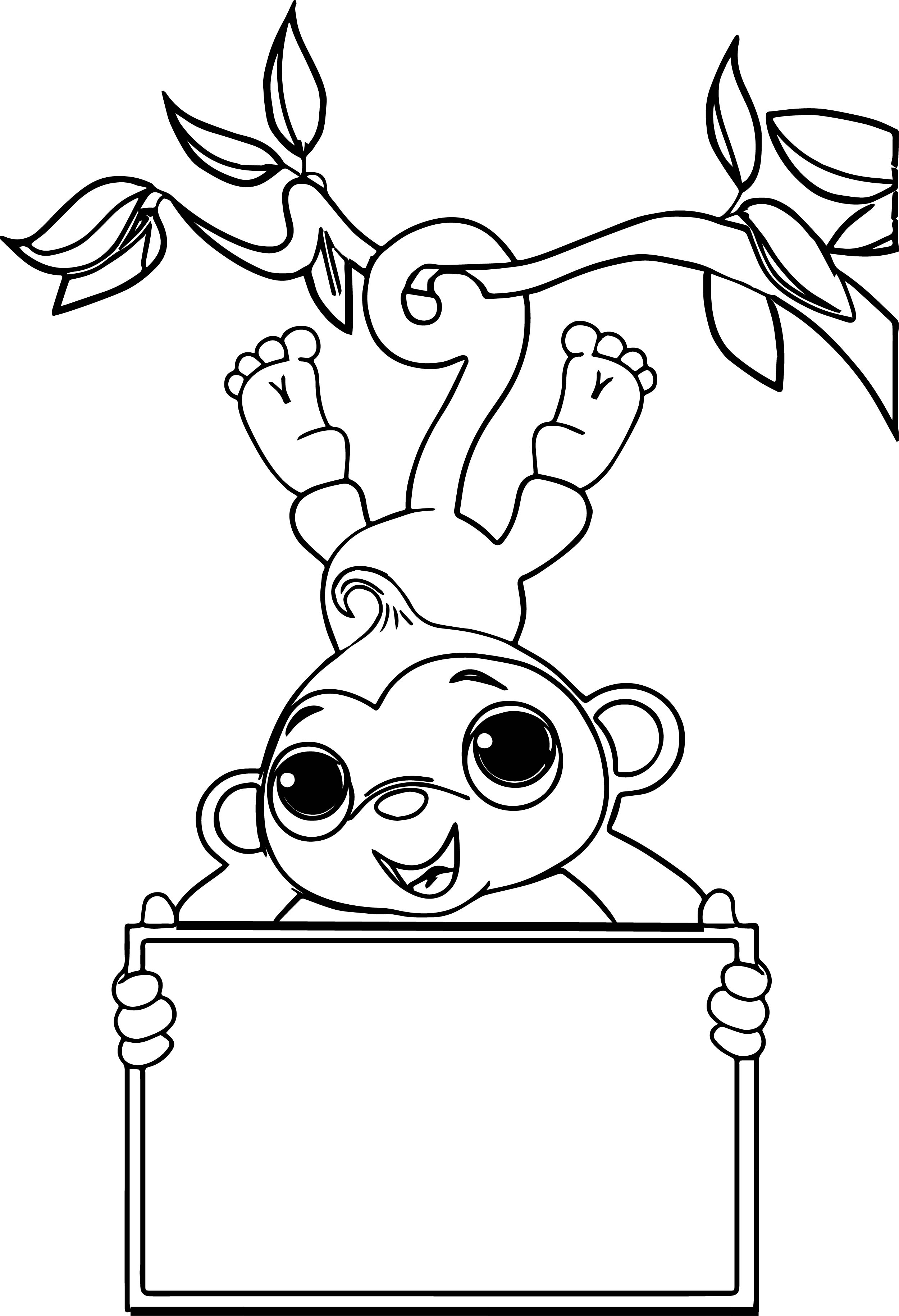 Monkey Coloring Pages Cute Ba Monkey Coloring Pages Free To Print ... | 3660x2500