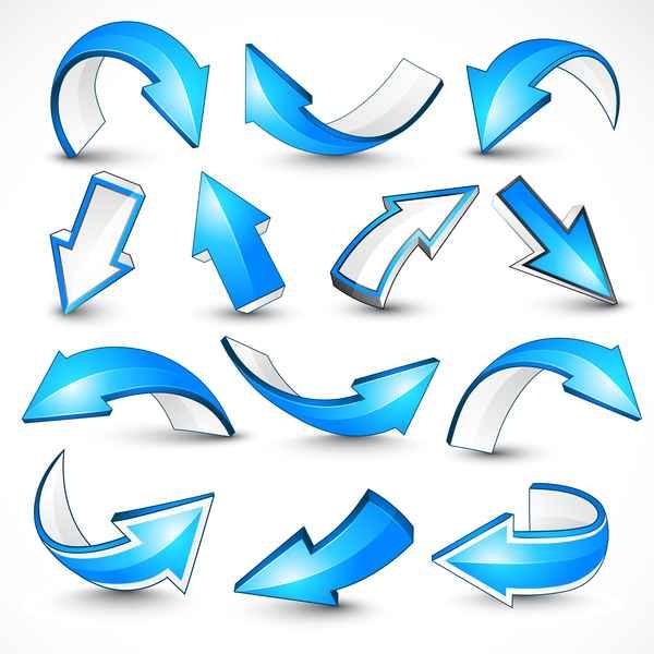 Blue shiny arrow vector