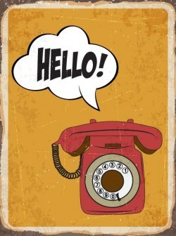 Retro background with telephone vectors