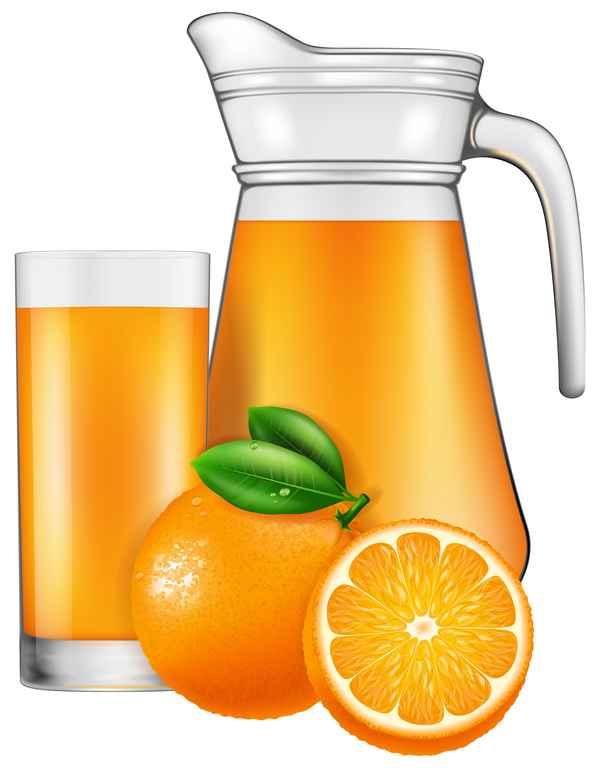 Orange juice with glass cup vectors 03