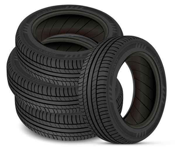 Auto tires design vector set 10