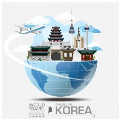 Korea travel vector template 01