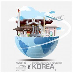 Korea travel vector template 02