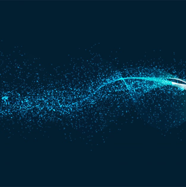 Abstract shiny glitter blue background