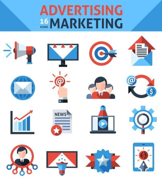 Advertising Marketing Icons