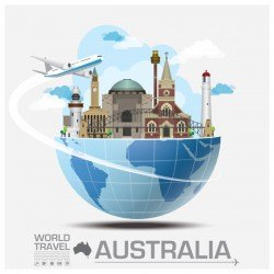 Australia travel vector template