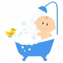 Baby Boy Bath Icons PNG