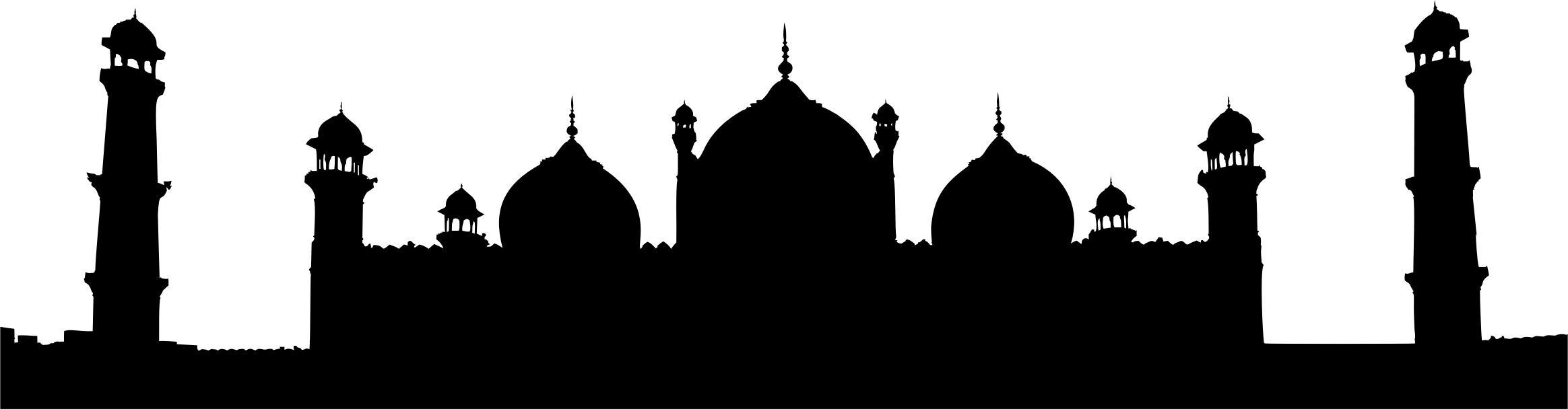 Badshahi Mosque Lahore Pakistan Silhouette Icons PNG