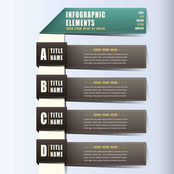 Banner bookmarik vector material