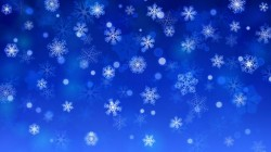 Beautiful snowflake with blue background